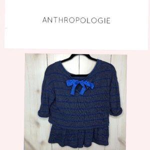 Anthropologie Postmark Latitudes Ruffle Sweater XS